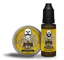 Lemongrass Moustache Wax & Conditioning Beard Oil Set Portlands Finest