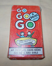 Vtg 50's GO GO GO Card Game Complete By ARRCO Playing Card Co. For Boys & Girls