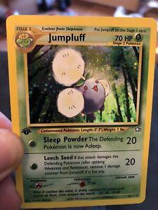 Pokemon Jumpluff 7/111 1st Edition Holo Rare Neo Genesis Never Played Swirls