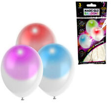 PACK OF 3 LED BALLOONS LIGHT UP XMAS FUN PARTY DECORATION WEDDING BIRTHDAY GIFT