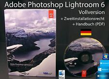 Adobe Photoshop Lightroom 6 VERSIONE COMPLETA BOX + DVD, manuale PDF WIN/MAC NUOVO OVP