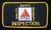 """CITGO GAS OIL EMBROIDERED PATCH INSPECTION ADVERTISING UNIFORM 4 1/2"""" x 2 1/2"""""""