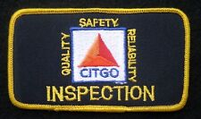"CITGO GAS OIL EMBROIDERED PATCH INSPECTION ADVERTISING UNIFORM 4 1/2"" x 2 1/2"""