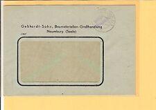 """SBZ / NAUMBURG (SAALE) 1 15.10.45, viol. aptierter L2 """"Gebühr bezahlt"""" auf Fa.-B"""