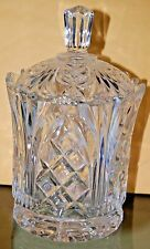 Gorgeous 24% LEAD CRYSTAL Covered Candy Dish Poland Pineapple Wexford Jelly