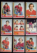 1974 Topps NHL Team LOT of 9 Montreal CANADIENS NM+ LAFLEUR LAPOINTE SAVARD