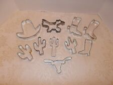 10 Metal Southwest Theme Arizona Cookie Cutters Cactus Roadrunner Longhorn +++
