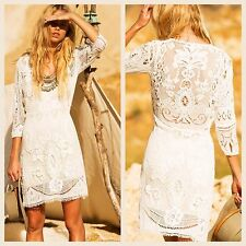 NWT SPELL & The Gypsy Collective Woodstock Mini Dress SZ S