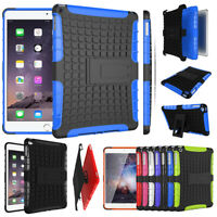 """For iPad 9.7""""Air 5/6th Mini 1234 Rubber Military Hard Stand Back Skin Case Cover"""