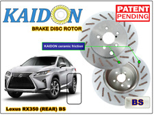 "Lexus RX350 brake disc rotor KAIDON (Rear) type ""BS"" / ""RS"" spec"