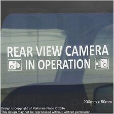 1 x cámara de visión trasera en funcionamiento Pegatinas Ventana CCTV signos-van, taxi, coche, taxi