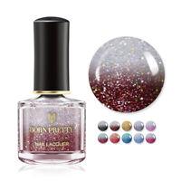 BORN PRETTY 6ml Holo Thermal Color Changing Nail Polish Nail Art Varnish Design