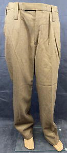 British Army Men's No.2 FAD Brown Dress Trousers