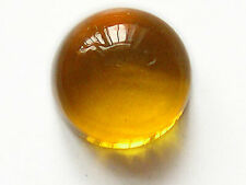 UNUSUAL 10mm ROUND CABOCHON-CUT NATURAL AFRICAN GOLDEN CITRINE GEMSTONE