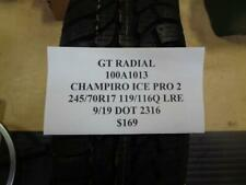 1 NEW GT RADIAL CHAMPIRO ICE PRO 2 245 70 17 119/116Q LRE TIRE100A1013 Q9