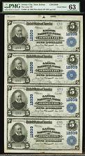 New Jersey Labor National Bank Uncut Sheet 1902 FR.609 Charter #12939 PMG 63