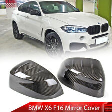 Dry Carbon Fiber Fit For BMW X6 F16 X3 G01 SUV Side Mirror Cover Trim 17 18