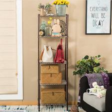 5 Ebenen Einheit Garage Küche Lagerung Draht Regal Rack Metall Regal Einstellbar