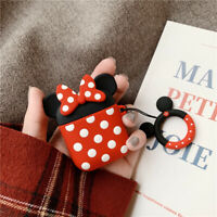 Disney Minnie Mouse Earphone Cover for Airpods Charging Case Holder +Ring Buckle
