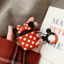 Disney Minnie Mouse Cover for Apple Airpods Charging Case Holder +Ring Buckle