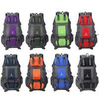 55L Outdoor Bag Camping Travel Waterproof Mountaineering Backpack Rucksack Packs