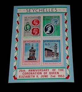 SEYCHELLES #416a, 1978, CORONATION, SOUVENIR SHEET, MNH, NICE LQQK