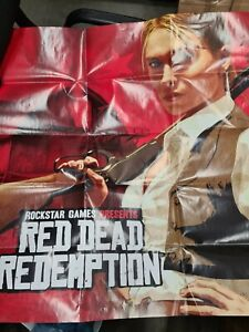 Red Dead Redemption Double Sided Poster / Map Only NO GAME Original