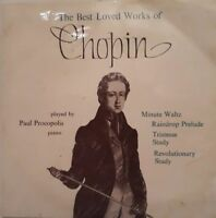 """The Best Loved Works Of Chopin 7"""" Single EP.1964 ARC 47.Paul Procopolis Piano."""