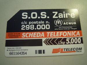 SCHEDA TELEFONICA TELECOM - S.O.S. ZAIRE - 32-109