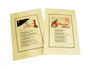 PET LOVER'S KEEPSAKE My Gift to Jesus & Four Feet in Heaven poems printed