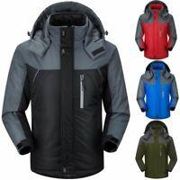 Waterproof Windproof Mens Hooded Thicken Jacket Winter Hiking Skiing Parka Coats