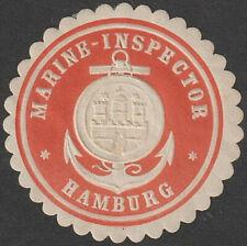 Siegelmarke Hamburg - Marine-Inspector (#35559)