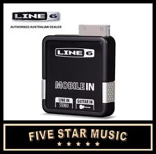 LINE 6 MOBILE-IN PORTABLE GUITAR INTERFACE LINE SIX MOBILE IN NEW iOS COMPATIBLE