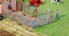 Faller HO Scale Scenery Accessory Kit Wire Mesh Fence w/ Wood Poles 13in. Long