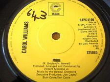 """CAROL WILLIAMS - MORE   7"""" VINYL"""