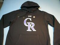 Under Armour Colorado Rockies BRAND NEW Hoodie Baseball NWOT MLB UA Pullover CR