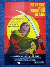 REVENGE OF THE BUSHIDO BLADE Samurai Original 1980s One Sheet Movie Poster