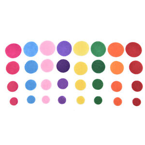 100pcs Non-Woven Felt Fabric Patches Circle Felt Patch for DIY Craft SewingP pA