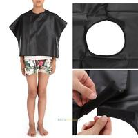 Hair Salon Cutting Barber Hairdressing Cape For Kids Adult Haircut Apron Black #