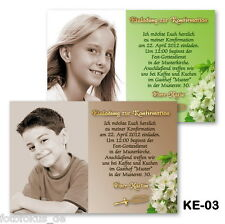 20 St. Invitation Cards, Photo Cards for communion confirmation with photos + Envelope