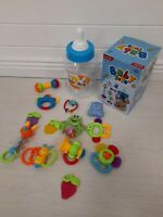 Rattle Teether Set Baby Toy - Sensory Baby Toy 0-6 Months Shaker Grab Rattle