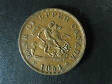 PC-5C1 Halfpenny 1854 Plain 4 token Province of Upper Canada Bank Breton 720