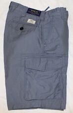 Polo Ralph Lauren Mens Blueberry Utility Canvas Cargo Shorts NWT $89 Waist 32