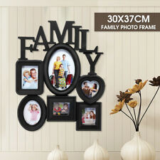 Family Photo Frame Wall Hanging 6 Pictures Memory Holder Display Home Decor Gift