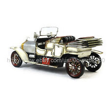 Handmade 1909 Rolls Royce Silver Ghost 1:12 Tinplate Antique Style Metal Model