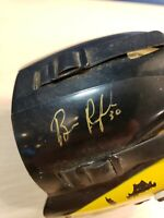 Boston Bruins Mini Helmet Mask Autographed Signed Signature - Damaged