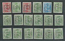 Nederland  356-373  GUILLOCHE  MH/ongebr  CV 160 €