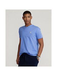 RALPH LAUREN Mens Blue Short Sleeve Classic Fit T-Shirt L