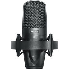 Shure SM27 Condenser Microphone Studio Live Stage Vocal Mic w/ Shock Mount