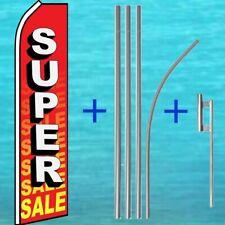 Super Sale Flutter Flag + Pole Mount Kit Tall Curved Feather Swooper Banner Sign